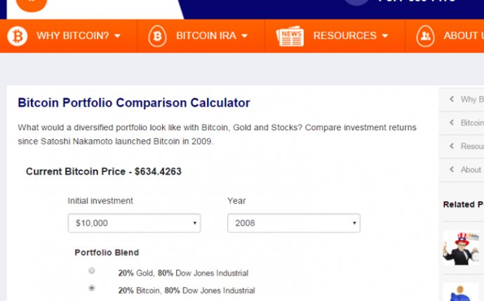 Bitcoin IRA Launches Investment Returns Calculator