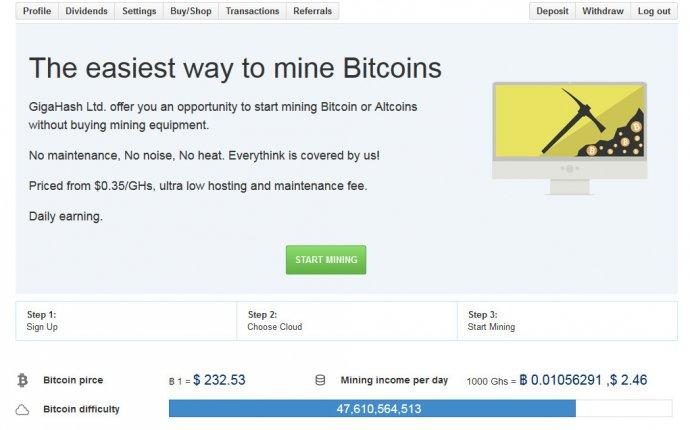 GigaHash, a New Cloud Mining Service - Crypto Mining Blog