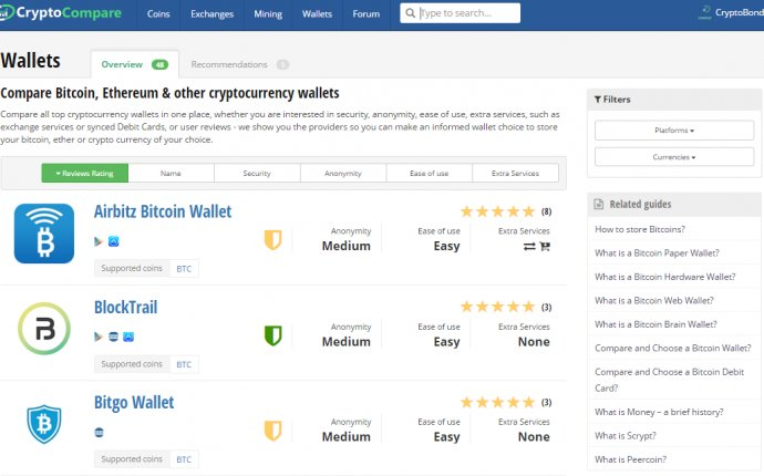 How to Choose a Bitcoin Wallet? | CryptoCompare.com