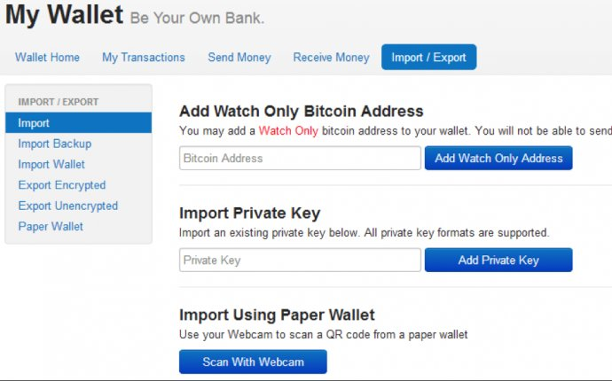 Tutorial: The Import / Export Feature in your Blockchain Wallet
