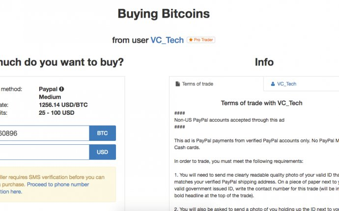 Purchase Bitcoin with PayPal