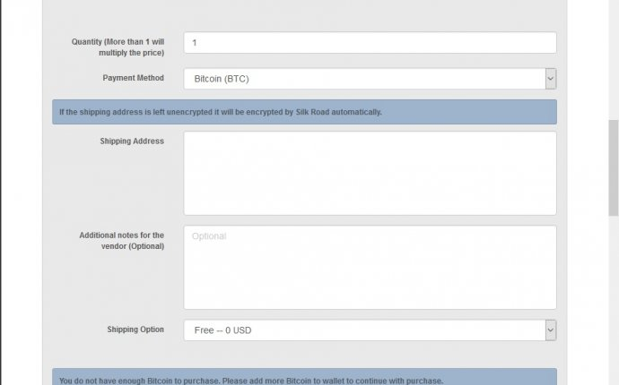 Using Bitcoins on Silk Road